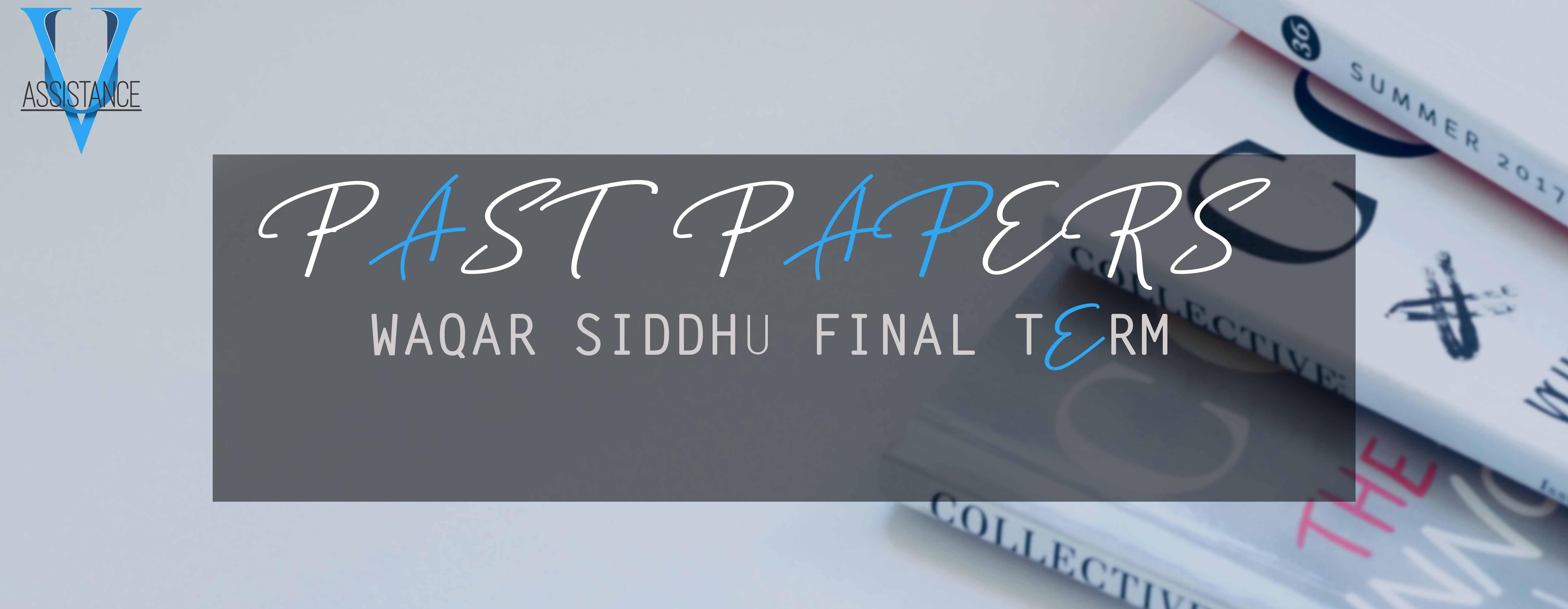 VU Final Term Past Papers