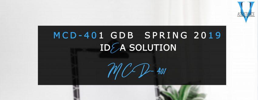 MCd401 Gdb Solution