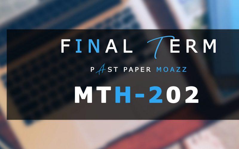 Mth202 PastPaper Finalterm