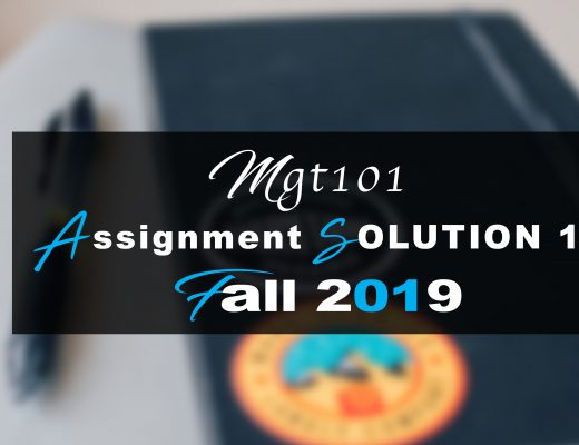 Mgt101 Assignment Idea SOLUTION 1 Fall 2019