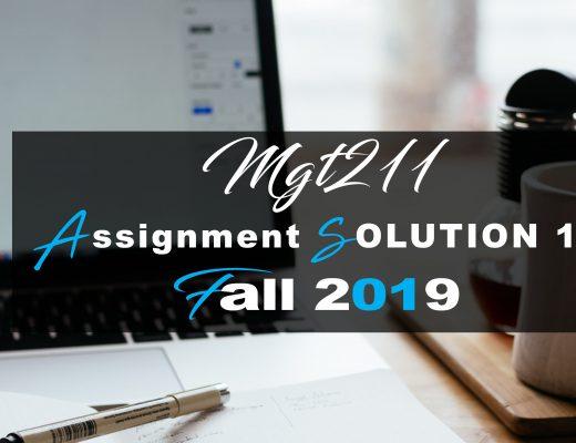 MGT211 Gdb 1 SOLUTION Fall 2019