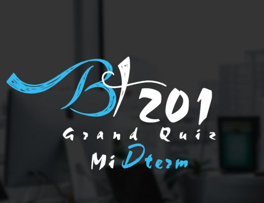 BT201 Grand Quiz Midterm 2020