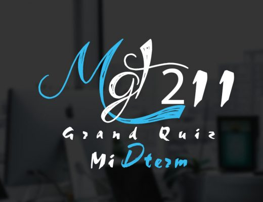 MGT211 Grand Quiz Midterm 2020
