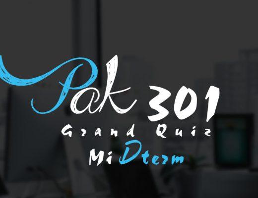 PAK301 Grand Quiz Midterm 2020