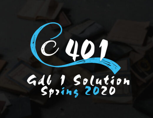 CS401 GDB 1 Solution Spring 2020