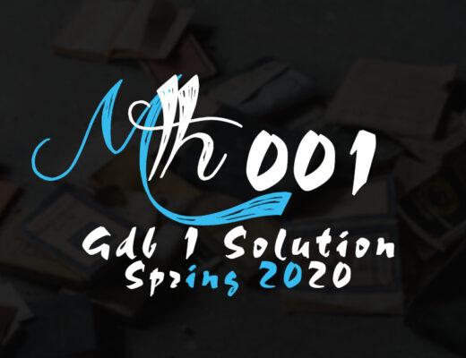 Mth001 GDB 1 Solution Spring 2020