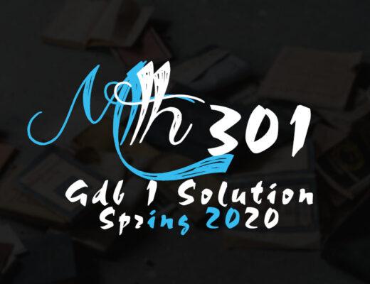 MTH301 GDB 1 Solution Spring 2020