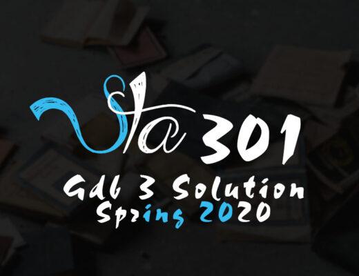 STA301 GDB 3 Solution Spring 2020