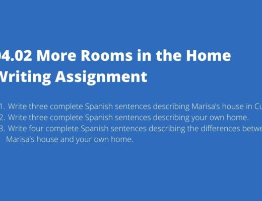 04.02 More Rooms in the Home Writing Assignment